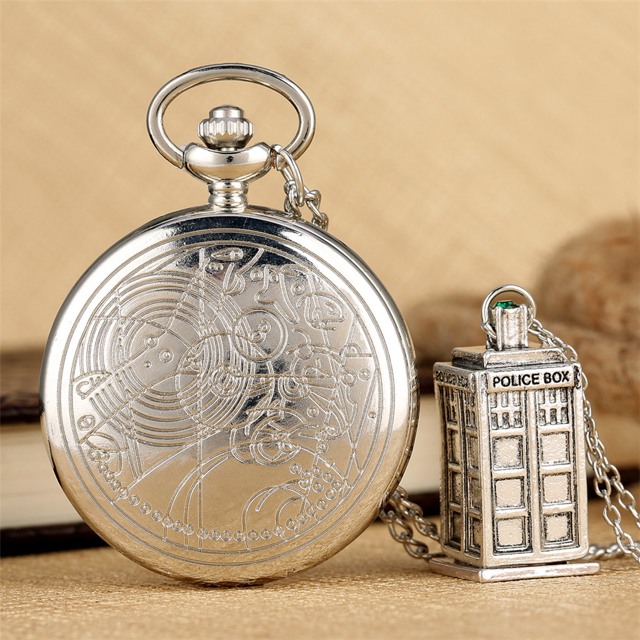 Doctor Who Theme Quartz Pocket Watch Retro Exquisite Pendant Watch Pendant Accessory Gifts Men Women Children