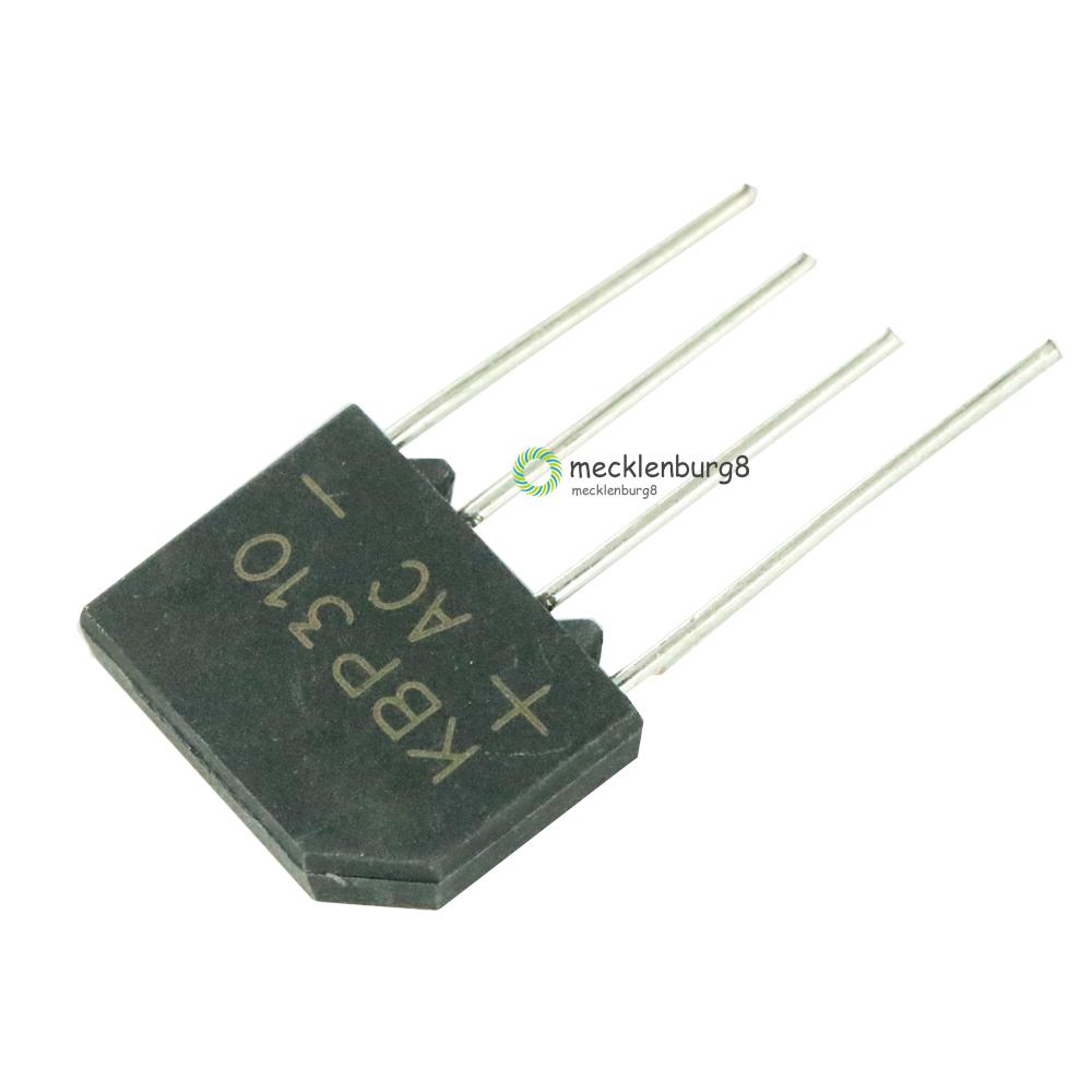 5 Pieces. KBP310 SIP-4 3A 1000 V Diode Bridge Rectifier Single Phase Bridge Rectifier New Arrival