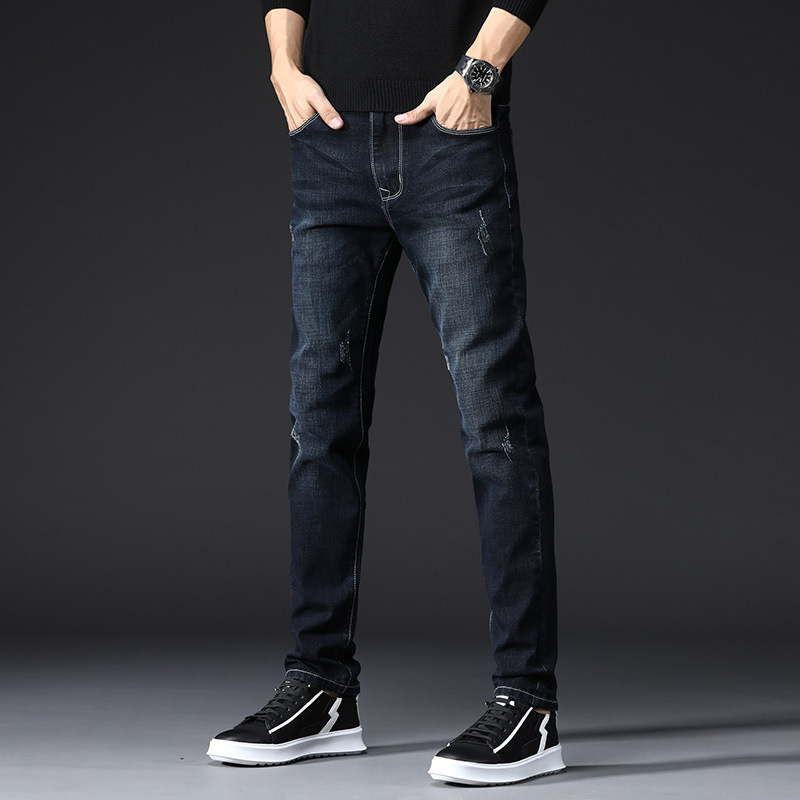 Korean Trendy Pants Slim Skinny Jeans Men Elastic Slim Jeans Men Pants Black Boy Quality Men Jeans