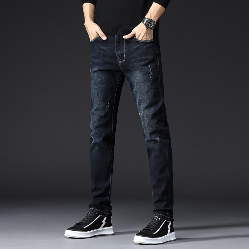 Korean Trendy Pants Slim Skinny Jeans Men Elastic Slim Jeans Men Pants Black Boy Quality Men Jeans