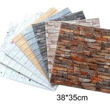 3d tijolo adesivos de parede decoração espuma à prova dwaterproof água cobrindo papel de parede para crianças sala estar fundo diy