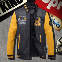 Jacket Motorcycle-Coats Winter New Man Thick Patchwork Men High-Quality