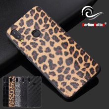 2 in 1 Luxury Vintage Leather Carbon Fiber Case Leopard Cover Skin for Redmi 7 Note7 Pro for Xiaomi 9 SE Cool Snake Shell(China)