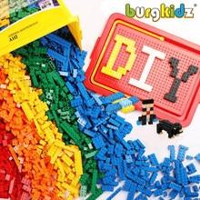 BURGKIDZ 1700 шт Детские Классические строительные блоки оружие фигурка город кирпич креативные игрушки для детей строительный блок Базовая пла...