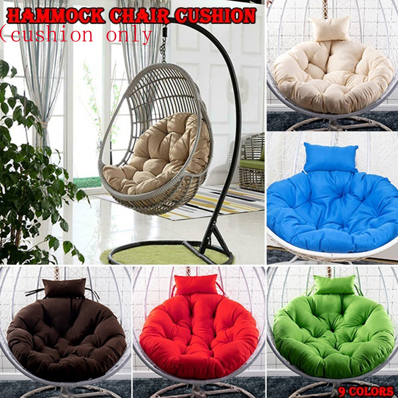 Egg Chair Garden Swing Chair Basket Seat Cushion Hanging Hammock Egg Rocking Chair Wicker Egg Swing Cushion Mat Pad Household