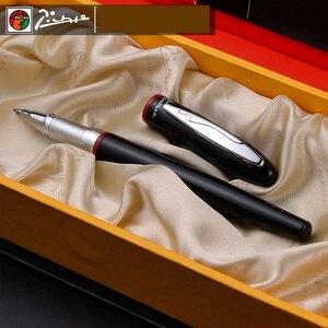 Image 5 - Pimio 907สีดำเรียบและRed Rollerballปากกาเงินคลิปโลหะคุณภาพสูงปากกาลูกลื่นปากกาOriginalกรณีของขวัญชุดปากกา