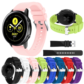 20mm Watch band For Samsung Galaxy Watch 42mm smart Silicone Replacement strap for Samsung Galaxy Watch Active watchbands Straps 20mm watch strap for samsung galaxy watch active sports silicone replacement band for samsung galaxy watch 42mm bracelet belt