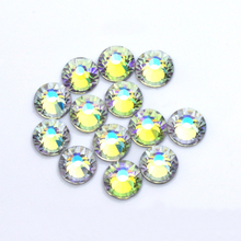 Transparent AB Hot fix Rhinestones Shiny strass applique glass hot fix flatback stone rhinestones for crafts weding decoration professional vaccum hot fix applicator with 3 tips suit for all stone size 120v 220v hot fix machine for hot fix rhinestones