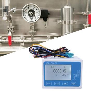 Przepływu cieczy miernik cyfrowy wyświetlacz LCD podświetlenie czujnik przepływu przepływomierz Totameter z SM2 54 wtyczka miernik przepływu wody tanie i dobre opinie VBESTLIFE Elektryczne Flow Meter
