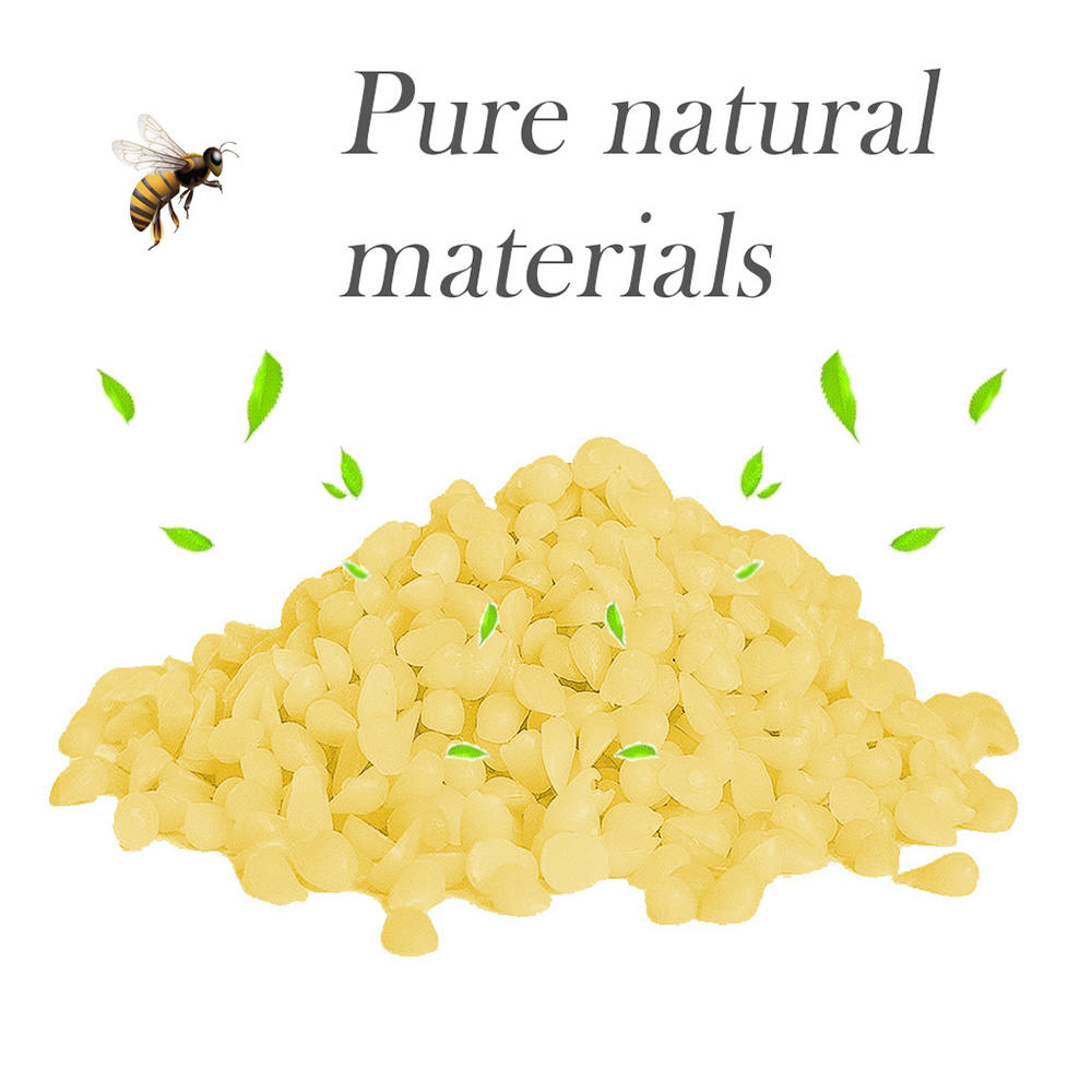 200g Food Grade Natural Beeswax Cosmetics Materials Grade Soap Making Lipstick Pure Natural Beeswax Leather Care Tool