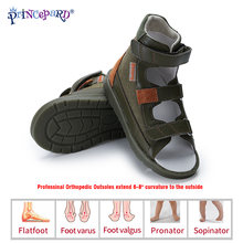 Детская обувь princepard Летние кожаные ортопедические сандалии