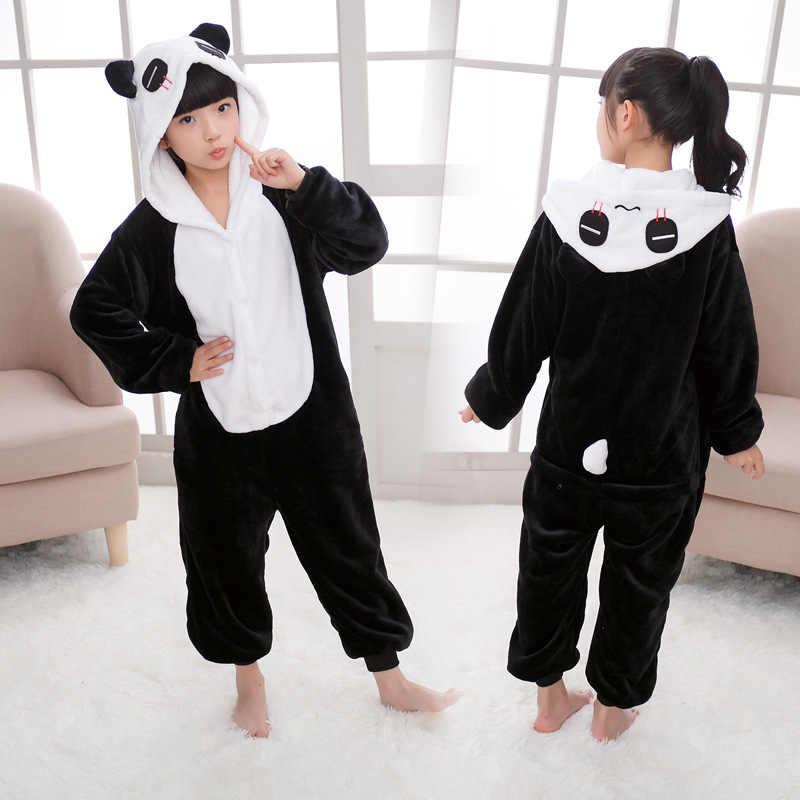 Детские фланелевые пижамы с рисунками животных, звезд, единорогов, для мальчиков и девочек, детская одежда для сна с героями мультфильмов милые пижамные комплекты с капюшоном для детей 4, 6, 8, 10, 12 лет