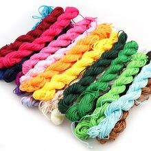 Нейлоновый шнур 25 цветов 20 м/лот 1 мм нить китайский узел