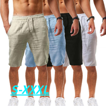 Summer new style men's casual sports cotton and linen comfortable fashion shorts jogging pants