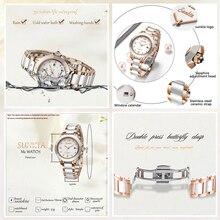 LIGE Brand Sunkta Fashion Ladies Ceramic Wrist Watch