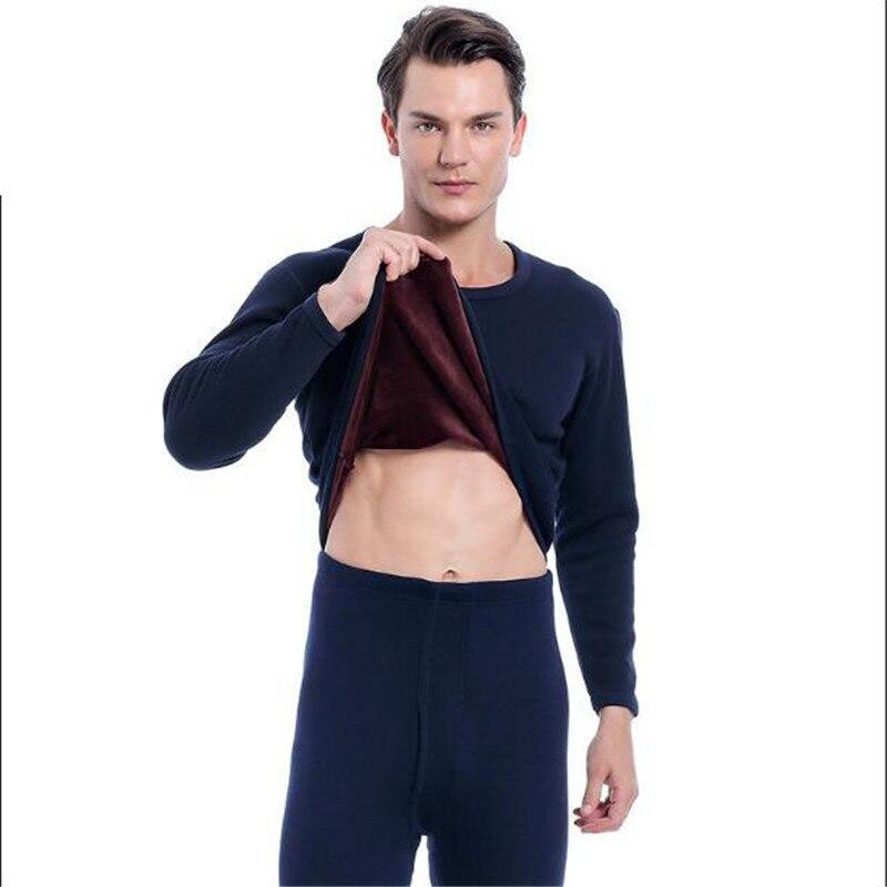Men's And Women's Thermal Underwear Suit Plus Velvet Autumn Suit And Trousers Suit