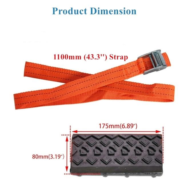 Тяговые блоки BENOO 1/2/4 шт., прочные нескользящие блоки из полиуретана для автомобильных шин с чехлом 3