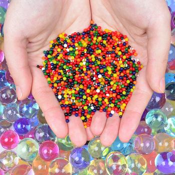 1000 sztuk worek kryształowe wodne kuleczki do gleby Orbiz Home Decoration Hydrogel Hogar galaretki kulki dla dzieci żel magia rosną perła kulkowa Decor tanie i dobre opinie Kryształ gleby QT-04