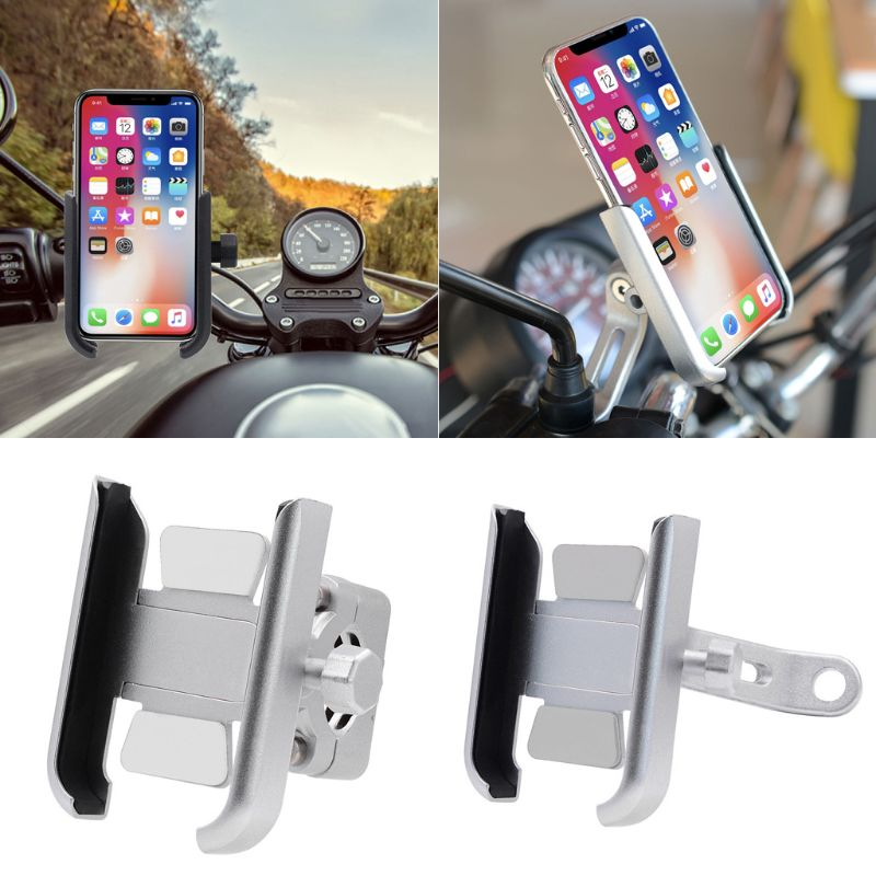 Image 5 - 360 Degree Universal Metal Bike Motorcycle Motorbike Mirror Handlebar Smart Phone Holder Stand Mount For iPhone Xiaomi Samsung 4-in Phone Holders & Stands from Cellphones & Telecommunications on