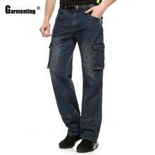 Garmenting мужские джинсы прямые джинсовые штаны модные с несколькими