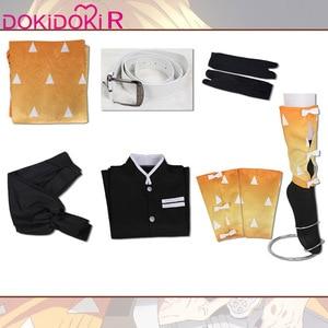 Image 5 - Dokidoki r Anime Cosplay Demon Slayer: Kimetsu no Yaiba Agatsuma Zenitsu kostium mężczyźni Kimono przebranie na karnawał Kimetsu no Yaiba