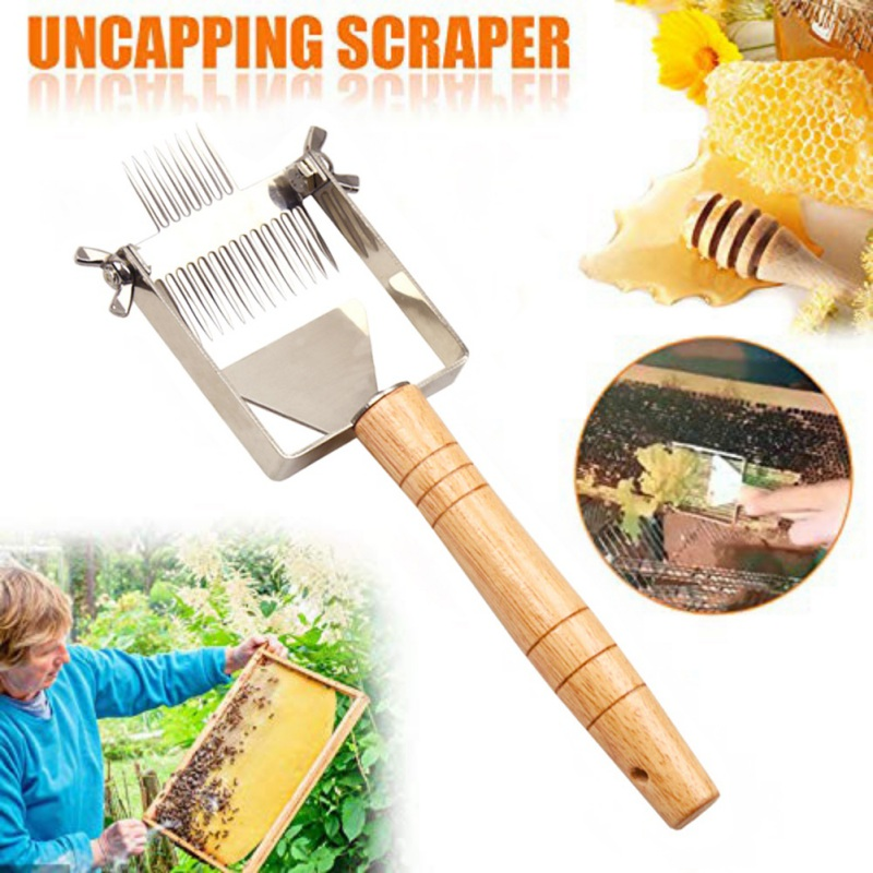 Portable Adjustable Double-ended Needle Balance Uncapping Honey Fork Scraper Beekeeping Tools