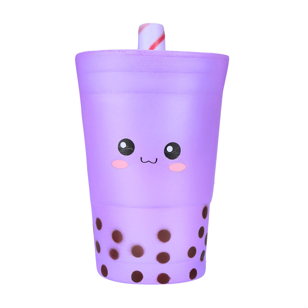 Hand Anti-stress Toy Cute Pearl Milk Tea Cup Soft Toy Self-closing Decompression Slowly Rising Child Charm Toy Gift L1216