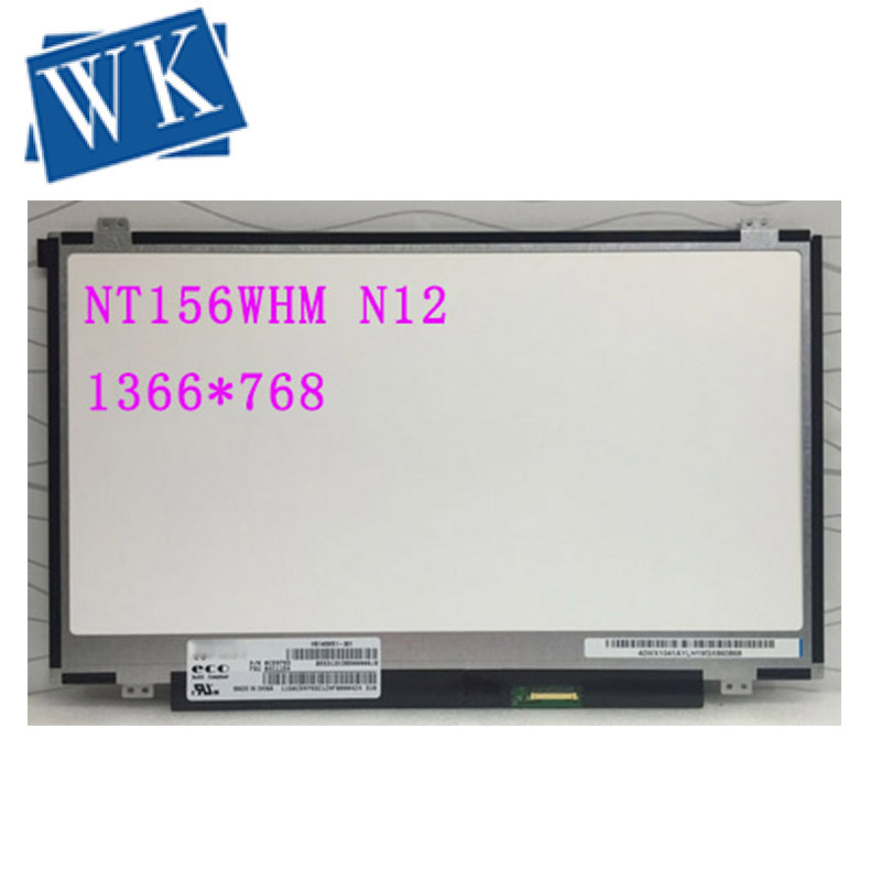 NT156WHM N12 For Boe Screen 1366x768 HD Glare 30Pin NT156WHM-N12 V8.0 Matrix For Lapotp LCD Screen LED Display Replacement