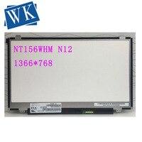 Nt156whm n12 para boe tela 1366x768 hd brilho 30pin NT156WHM N12 v8.0 matriz para lapotp tela lcd display led substituição|Tela de LCD do laptop| |  -