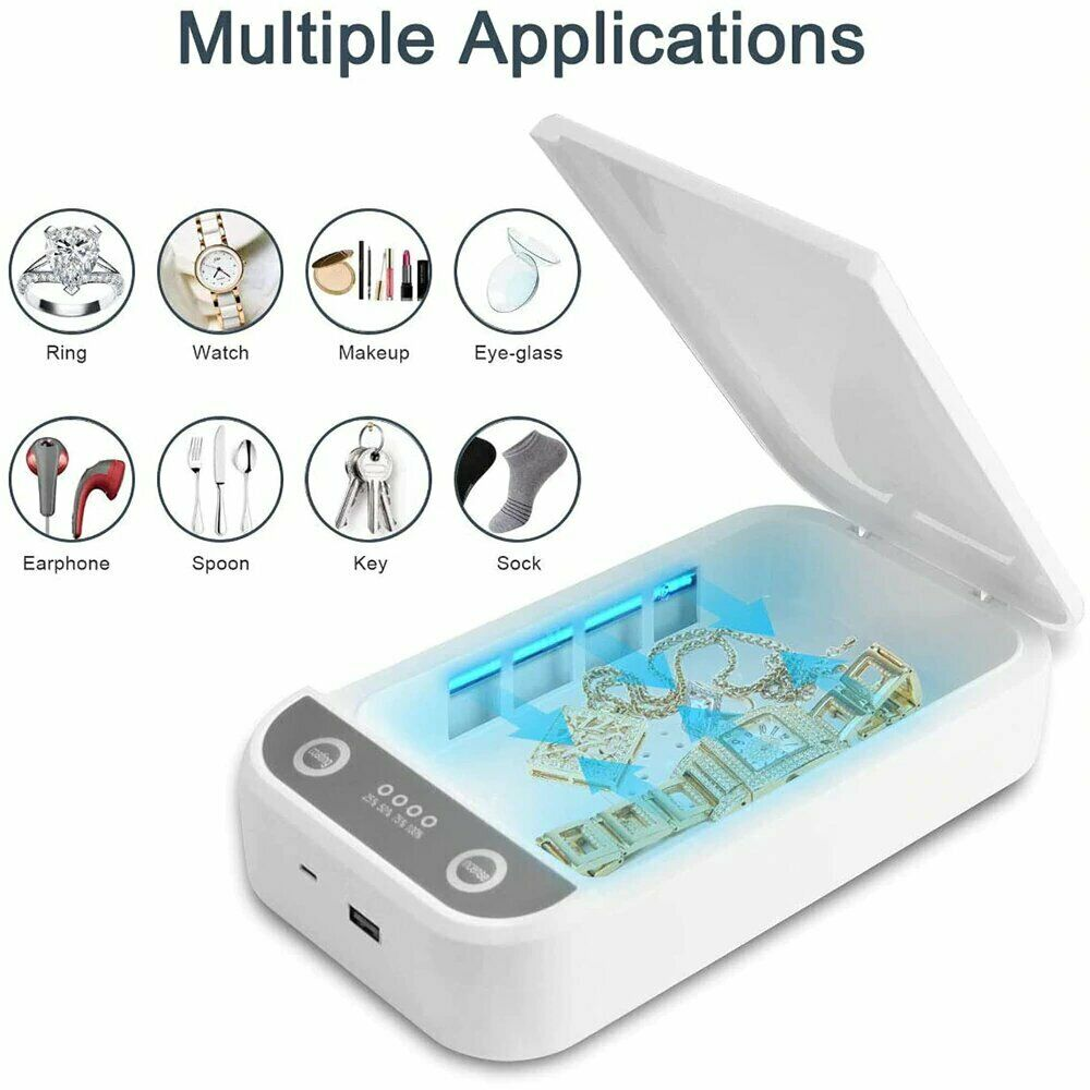 Portable 5V UV Mobile Phone Sterilizer Box For Mobile Computer Computer Shaver Nail Tool Watch USB Charging Boxh