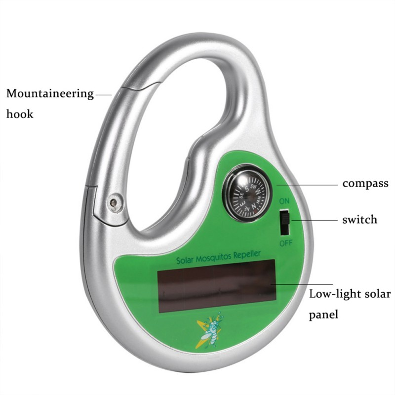 Solar Charging Ultrasonic Electronic Drive Mosquito Outdoor Mosquito Repellent Portable Hook Type Pest Repeller  Insect Killer