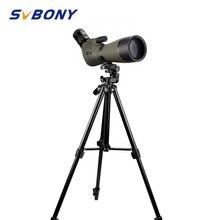 """Svbony 20 60x80ズームスポッティングスコープ窒素を充填した防水望遠鏡デュアルフォーカス機構金属のw/ 54 """"アルミ三脚"""