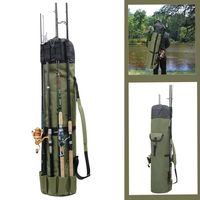 Fishing Rod Gear Storage Bag Multi function Bracket Bag Large Capacity Lightweight Waterproof Shoulder Fishing Bag Box