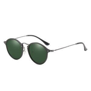 Image 5 - BARCUR الألومنيوم المغنيسيوم Vintage النظارات الشمسية للرجال الاستقطاب نظارات شمسية مستديرة النساء الرجعية النظارات Oculos Masculino