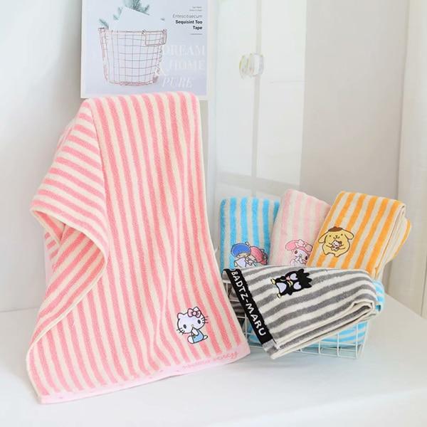 75x35cm Cartoon HelloKitty My Melody Cinnamoroll Pompompurin Little Twin Stars BadBadtz-maru Cotton Bath Towel Washcloth Wipe