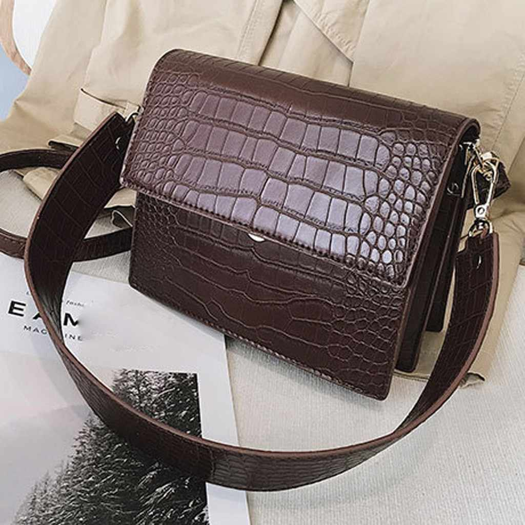 Women' s Solid Color Trend Large Capacity Casual Wild Shoulder Crossbody Messenger Bag Mujer Bolsas Femininas sac a main femme35