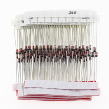 150 pçs/lote 1/2w zener diodo 3v-30v 15 valores variedade kit para kit eletrônico diy