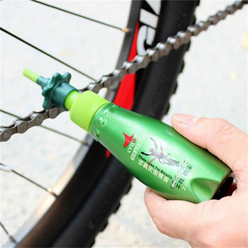 60ML Bike Teflon Dry Lubricating Lube Bicycle Chain Oil Bearing Flywheel Brakes Rust Diagnostic Tool Mountain Bike Park Oil Tool title=