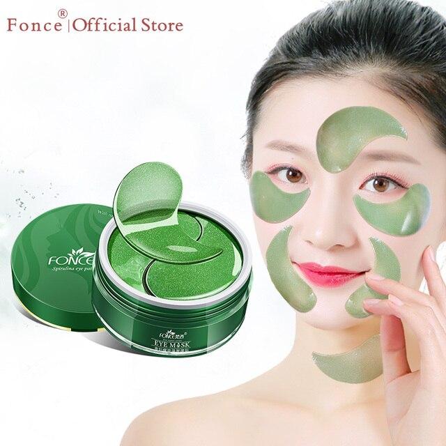 Fonce Deep Sea Seaweed Collagen Crystal Eye Patches 60 Piece Korean Reduce Dark Circles Gel Sleep Masks Anti Age Eye Wrinkle