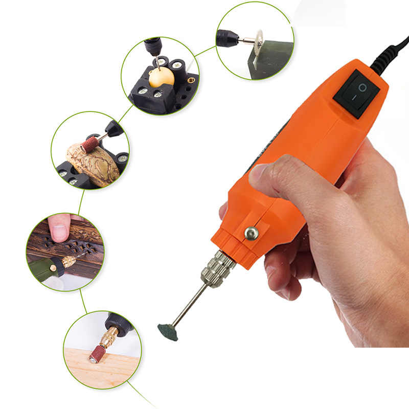 Cordless Cacciavite Elettrico Mini Trapano Elettrico Portatile Tenuto in mano Grinder Rettifica Lucidatura di Pulizia a mano Punta del trapano Kit