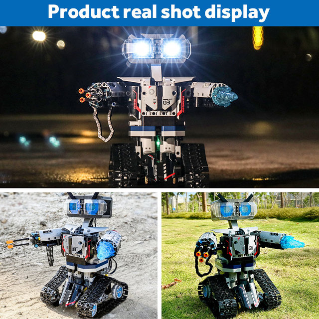 2020 NEW SEMBO Technic RC Robot Building Blocks Creator City Remote Control Intelligent Robot Car Weapon Brick Toys For Children 2