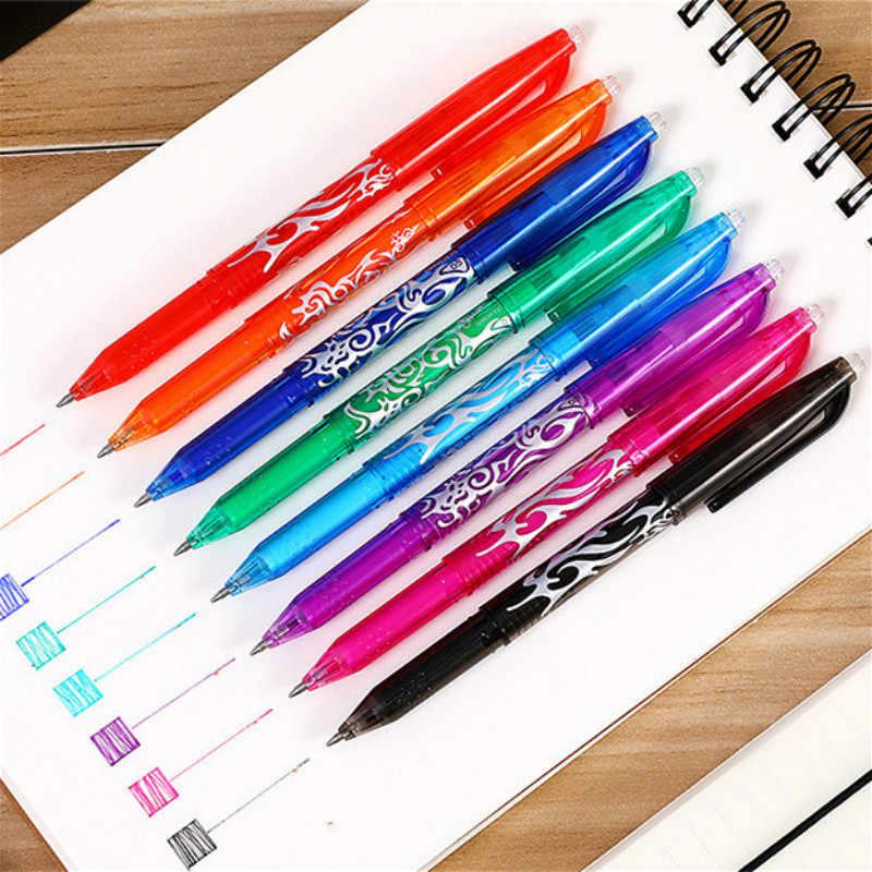 1 sztuk fioletowy kasowalne kulkowe długopisy Vintage wszelkiego rodzaju kolorowy długopis biznes pisanie prezenty biuro szkolne papiernicze