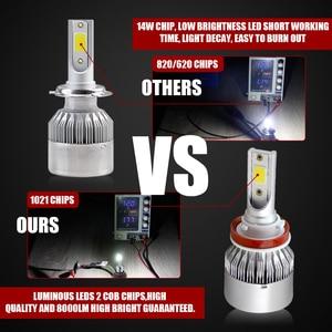 Image 5 - C6 Wholesale 880 881 H7 LED H4 Car Fog Lights Bulb H27 HB4 HB3 9012 9006 H3 H1 H11 H8 H9 H13 Led light For Auto 12V Head light