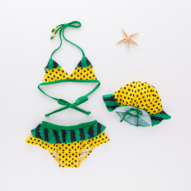 Girls' Two-piece Swimsuit Watermelon-Children Hot Springs Clothing