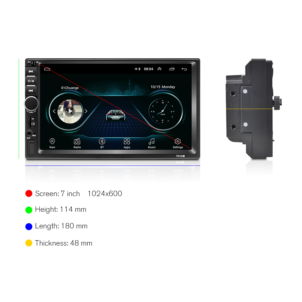 Image 5 - Podofo 2 din Car Radio GPS multimedia Player Android Universal auto Stereo 2din Video MP5 Player Autoradio GPS WIFI Bluetooth FM-in Car Radios from Automobiles & Motorcycles