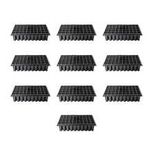 10Pcs/Set 32/50 Holes Succulent Plants Thicken High-Legged Nursery Pot Nutrition Bowl Seedling Tray For Propagation Germination - DISCOUNT ITEM  40% OFF Home & Garden