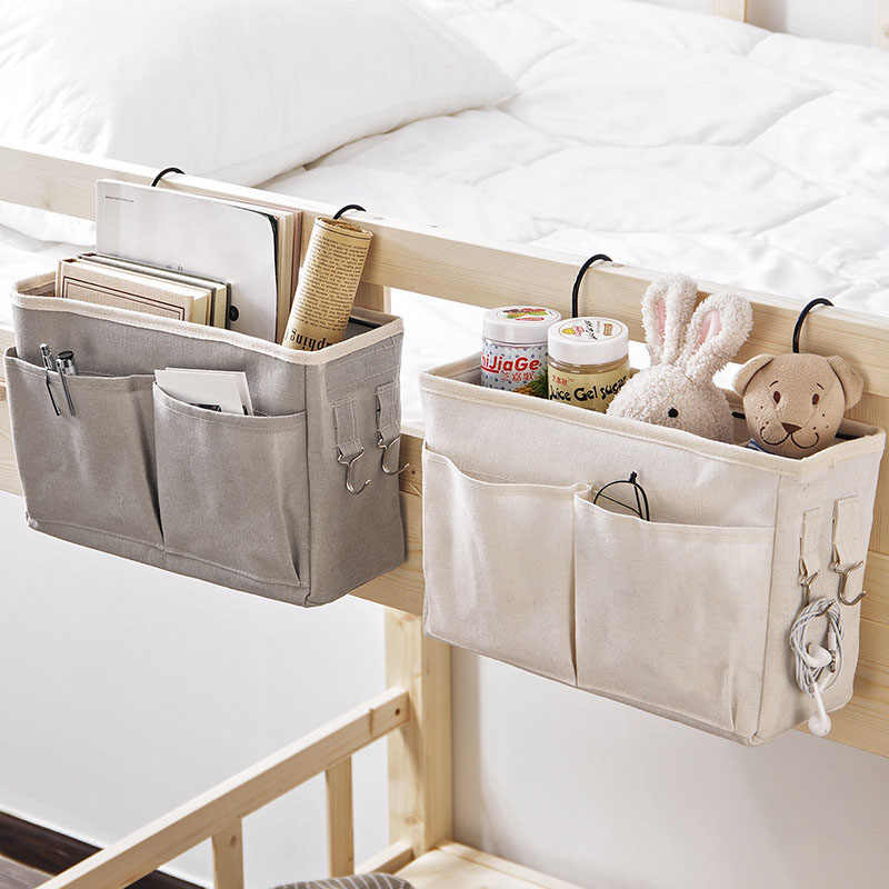 Canvas Bedside Opknoping Pocket Opbergtas Slaapkamer Tijdschrift Opslag Pouch Luier Caddy Speelgoed Houder Baby Tissue Box Thuis Organizer