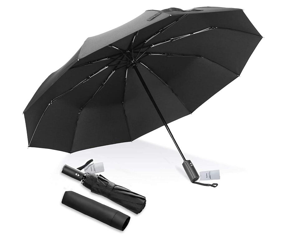 Складной зонт большой 12-ребра в одно касание автоматическое открытие и закрытие анти-для дождливой и ветреной погоды, Применим при всех тип...