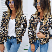 2020 Autumn Leisure Comfort Women Ladies Leopard Printed Jackets Autumn Warm Fem