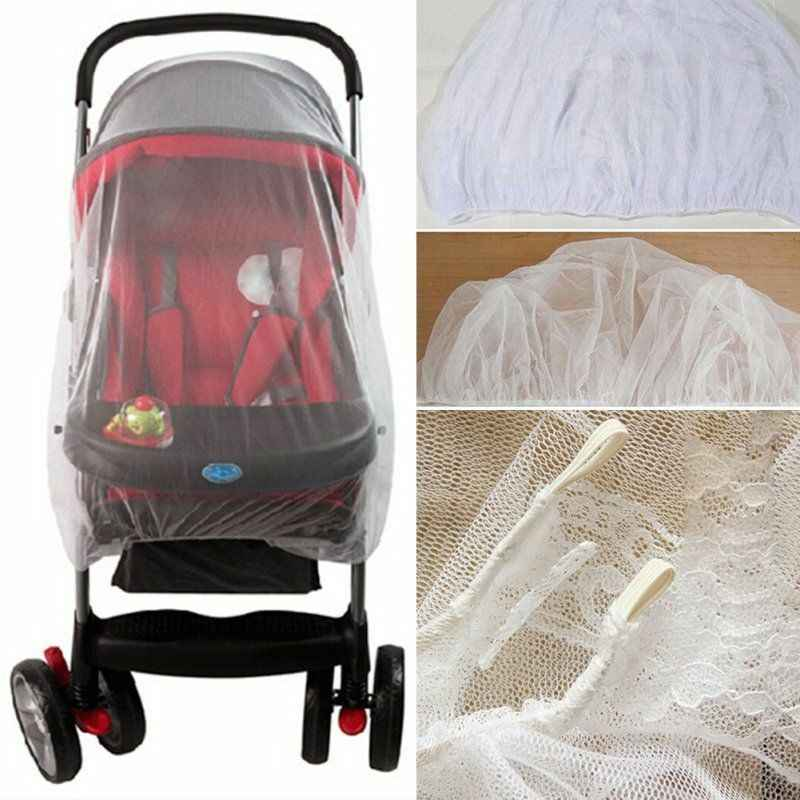 2018 nova marca recém-nascido da criança infantil carrinho de bebê crip rede pushchair mosquito inseto net malha segura buggy branco